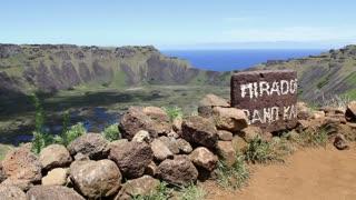 Mirador Volcano Rano Kau Easter Island, Rapa Nui