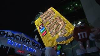 M&M store Las Vegas at night