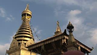 Monkey temple in Kathmandu Nepal