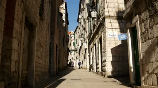 Narrow streets of the old town in Split Croatia