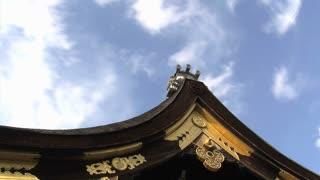 Nishihonganji gate roof timelapse Kyoto, Japan