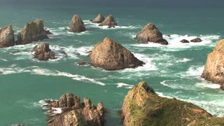 Nugget point at the Catlins in New Zealand