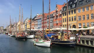 Nyhavn (New Harbour) in Copenhagen Denmark