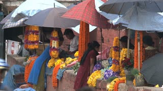 Orange flowers offers at Durbar Square,Kathmandu,Nepal