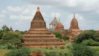 Pagoda landscape with the That Byin Nyu Temple in Bagan, Myanmar, Burma