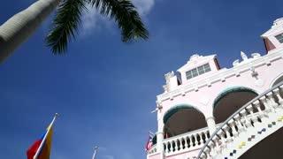 Pan from Colorful Royal Plaza Mall in Oranjestad Aruba