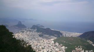 Pan from Corcovado Mountain in Rio de janeiro Brazil