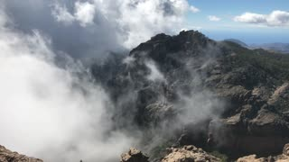 Pan from Pico de las Nieves the highest peak of the island of Gran Canaria