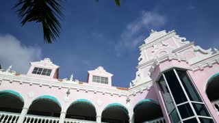 Pan from the colorful Royal Plaza Mall in Oranjestad Aruba