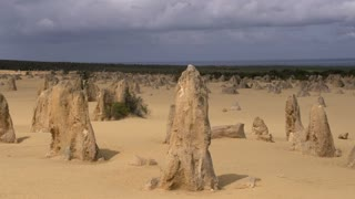 Pan limestone landscape of The Pinnacles in Western Australia