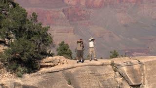 People making a photo Grand Canyon,Grand Canyon