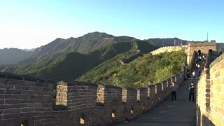 People walking at the great wall,Mutianyu Great Wall