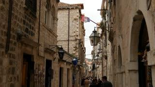 People walking in the streets of Dubrovnik Croatia