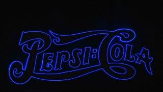 Pepsi cola sign Las Vegas at night