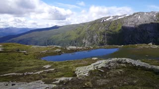 Pond at the Lonahorgi mountain in Norway
