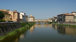 Ponte Vecchio is a Medieval stone closed-spandrel segmental arch bridge over the Arno River, in Florence, Italy
