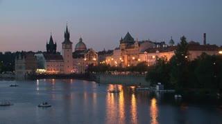 Prague at night time lapse, Czech Republic