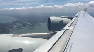 Qatar Airlines take off from Colombo Airport in Sri lanka