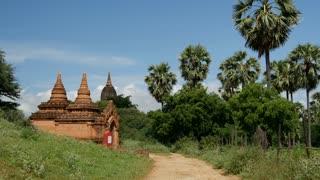 Road to the pagodas in Bagan, Myanmar, Burma