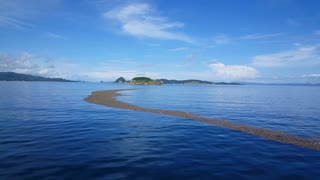 Sailing through dirt in the water from Paquera to Puntarenas with the ferry in Costa Rica