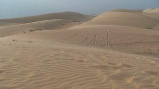 Sand dune desert motorbike