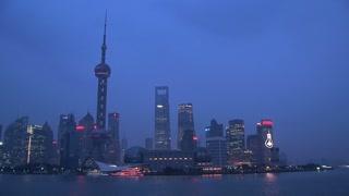 Shanghai skyline time lapse