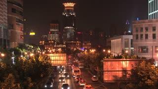 Shanghai traffic at night