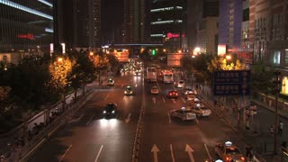 Shanghai traffic time lapse