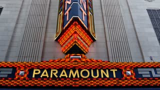 Sign of the Paramount Theater in Boston