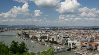 Skyline Time lapse of Budapest from Gellért Hill in Budapest Hungary