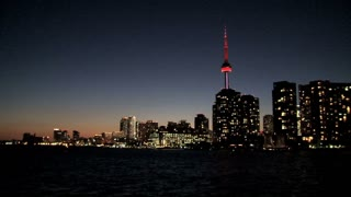 Skyline Toronto at night, Canada
