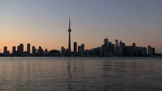 Skyline Toronto evening Canada,Toronto