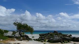 Small bay at the coast in Tulum Yucatan, Mexico