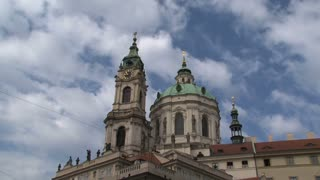St nicholas church time lapse, Prague