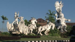 Statue to traffic in Bali