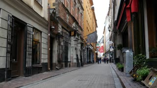 Street in Gamla Stan Old town Stockholm Sweden