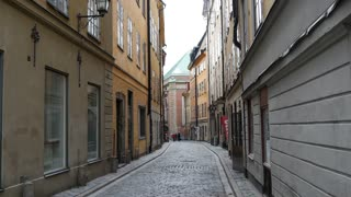Street in Gamla Stan Old town Stockholm Sweden