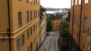 Street in Södermalm Stockholm Sweden