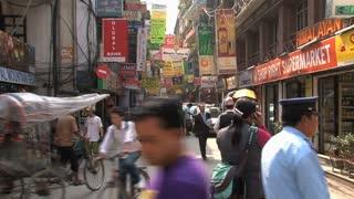Street in thamel district of Kathmandu, Nepal