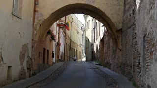 Street in the Old town Vilnius Lithuania
