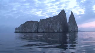 Sunrise at the Kicker Rock, San Cristobal, Galapagos Islands, Ecuador
