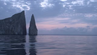Sunrise at the Kicker Rock, San Cristobal, Galapagos Islands, Ecuador