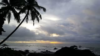Sunrise time lapse at the coast of Montezuma Costa Rica