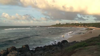 Sunset at Maui hookipa beach,Hawaii