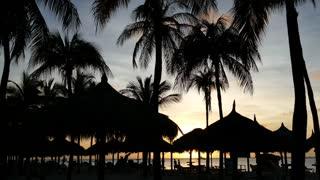 Sunset at palm beach in Aruba