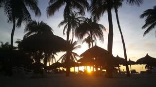 Sunset at Palm Beach on Aruba