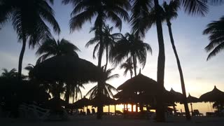 Sunset at Palm Beach on Aruba