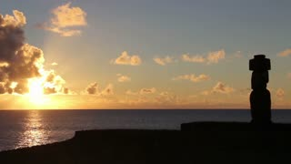 Sunset at Tahai Easter Island, Rapa Nui