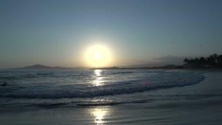 Sunset at the beach in Isabela, Galapagos Islands, Ecuador