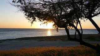 Sunset on Aruba Beach